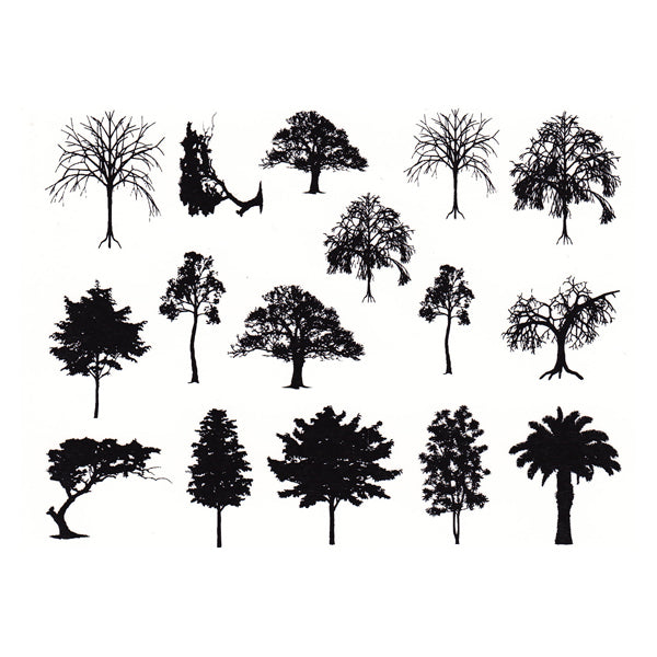 Trees Black (Decal-042)