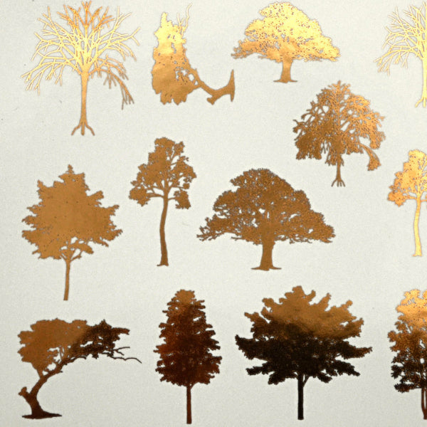Trees Gold Lustre (Decal-044)