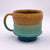 One of a kind, 18 oz Mug, Turquoise & Yellow tea bowl style