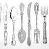 Vintage Utensils Black (Decal-048)