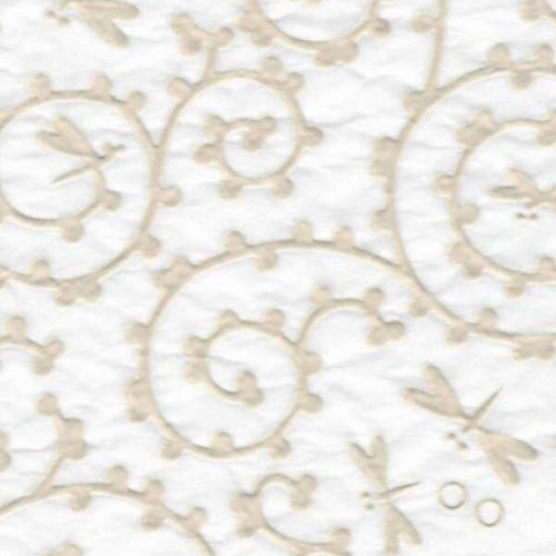 Dragonflies Pattern - White Relief (JPT-081)