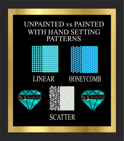 Hand Setting Rhinestones Placement Options with Painted and Unpainted Backgrounds