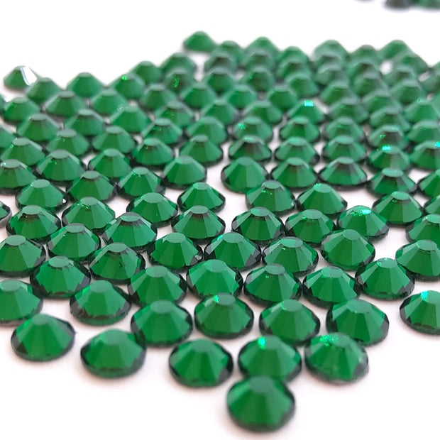 BULK Flatback Emerald Green  Glass Rhinestones Media 1 of 1