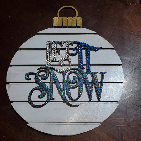 Let It Snow Word Art