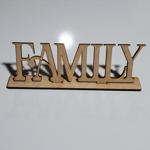 Family Word Art With Sant