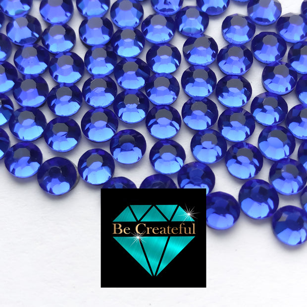 DMC Cobalt Blue Glass Hotfixs Rhinestones - Be Createful, Beautiful Rhinestones at wholesale prices.