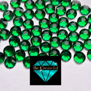 DMC Emerald Green Glass Hotfix Rhinestones - Be Createful, Beautiful Rhinestones at wholesale prices.