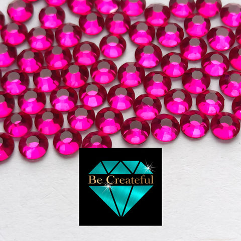 DMC Hot Pink/Fuchsia Glass Hotfix Rhinestones - Be Createful, Beautiful Rhinestones at wholesale prices.