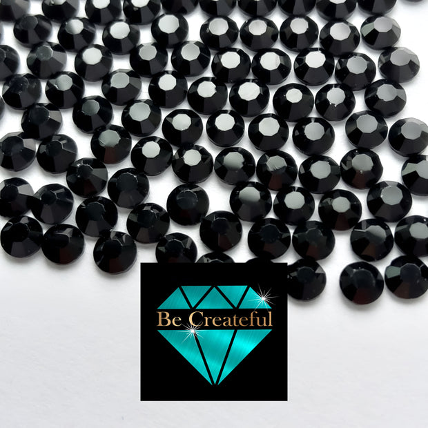DMC Jet Black Glass Hotfix Rhinestones - Be Createful, Beautiful Rhinestones at wholesale prices.