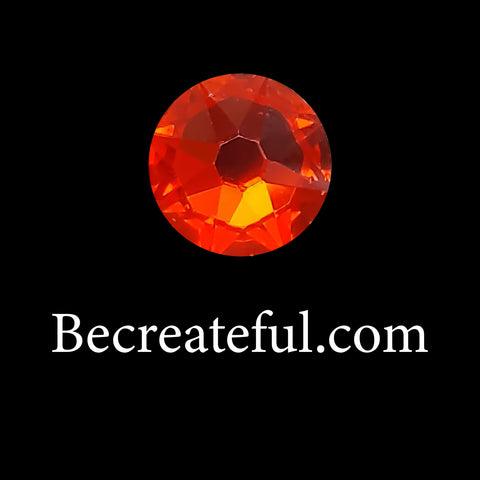 DMC Orange Glass Hotfix Rhinestones - Be Createful, Beautiful Rhinestones at wholesale prices.