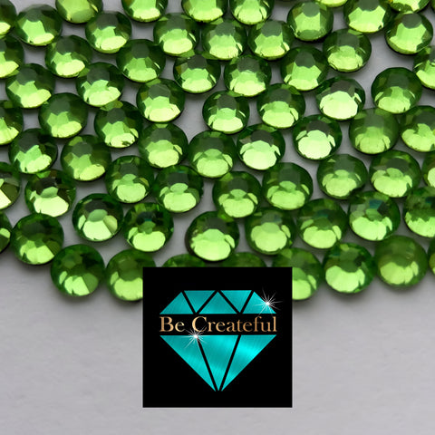 DMC Peridot Glass Hotfix Rhinestones - Be Createful, Beautiful Rhinestones at wholesale prices.