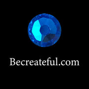 DMC Capri Blue Glass Hotfix Rhinestones - Be Createful, Beautiful Rhinestones at wholesale prices.