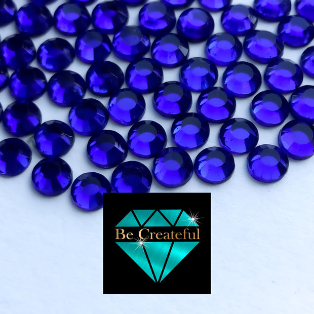 Korean Cobalt Hotfix Glass Rhinestones - Be Createful, Beautiful Rhinestones at wholesale prices.