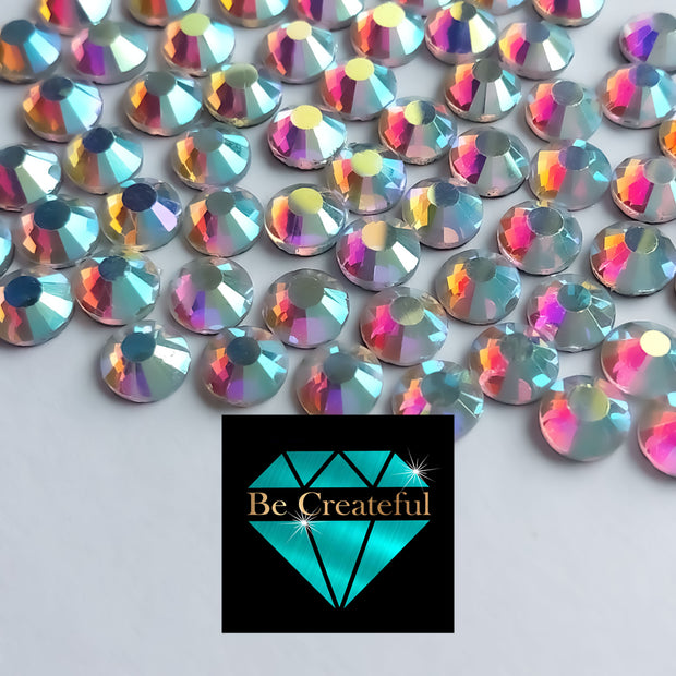 DMC Crystal AB Glass Hotfix Rhinestones - Be Createful, Beautiful Rhinestones at wholesale prices.