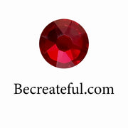 Be Createful Flatback Dark Siam Glass Rhinestones