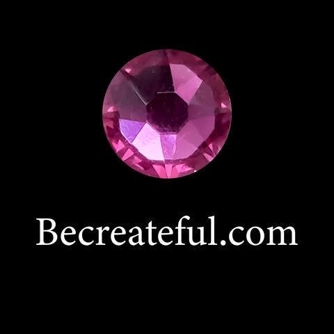 Flatback Foil Fuchsia/Hot Pink Glass Rhinestones - Be Createful, Beautiful Rhinestones at wholesale prices.