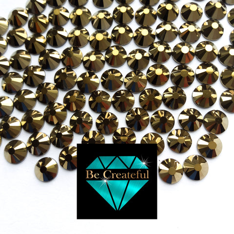 DMC Aurum Gold Glass Hotfix Rhinestones