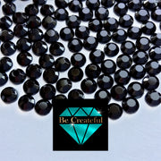 Korean Jet Black Glass Hotfix Rhinestones - Be Createful, Beautiful Rhinestones at wholesale prices.
