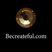 Be Createful Lt Topaz Flatback Glass Rhinestones