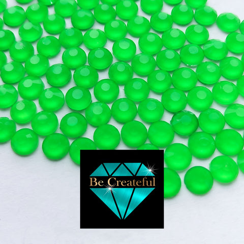 Luxe Neon Green Hotfix Glass Rhinestones
