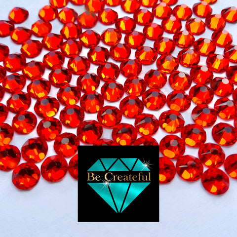 Luxe Hotfix Orange Hotfix Glass Rhinestones