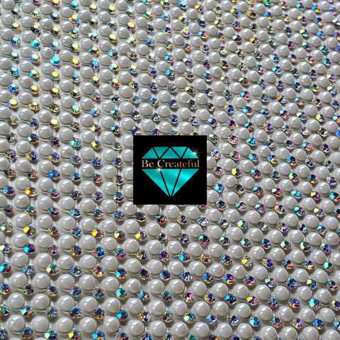 Hotfix Pearl and Crystal AB Rhinestone Sheets