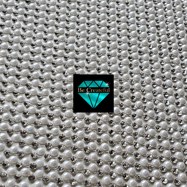 Hotfix Pearl and Crystal Rhinestone Sheets