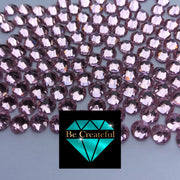 Flatback Foil Pink Glass Rhinestones - Be Createful, Beautiful Rhinestones at wholesale prices.