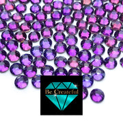BULK Flatback Purple Majesty Glass Rhinestones