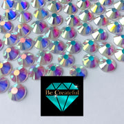 BULK Flatback Transparent AB Glass Rhinestones