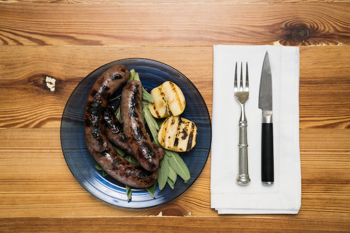 Apple, Onion and Sage Bison Sausage