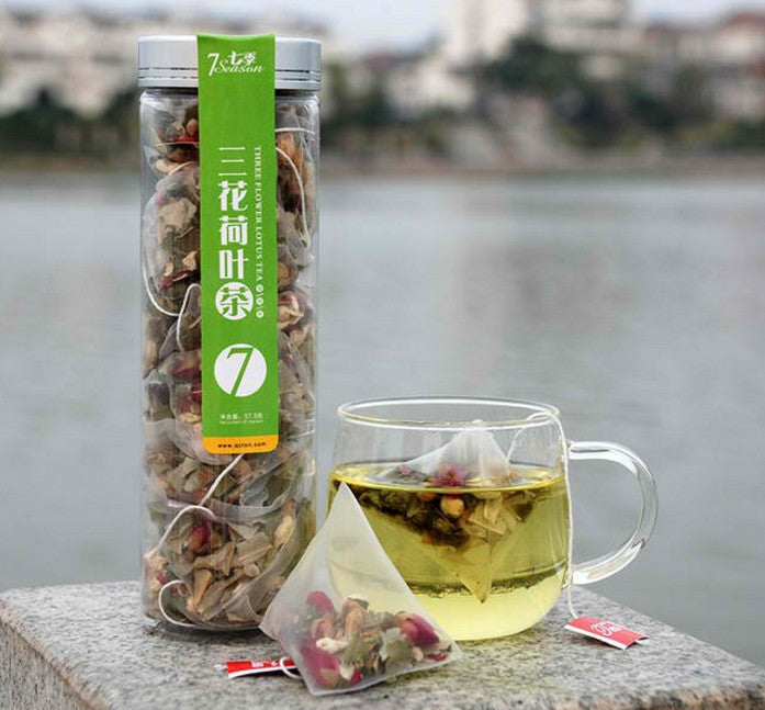 Flower Lotus Canned Triangle Herbal Tea
