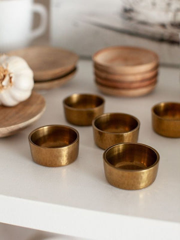 Brass pinch pots