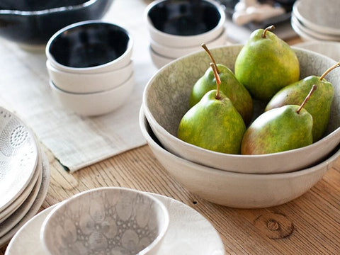 How to style your table with faux fruit