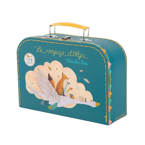 Voyage d'Olga puzzle in carry case