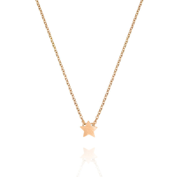 Rose Gold Plated Tiny Star Necklace