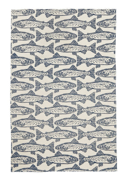 Workwear Salmon Cotton Tea Towel