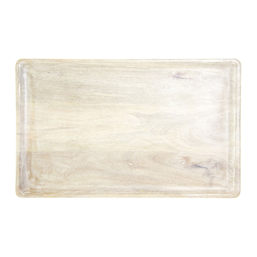 Mangowood Serving Board Rect White