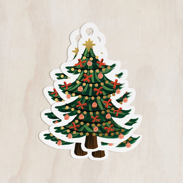 Christmas Tree Gift Tag Set of 8