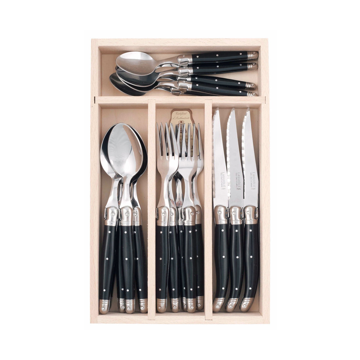 Debutant Cutlery Set 24pc Black