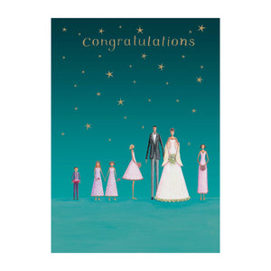 Congratulations Family Wedding Card