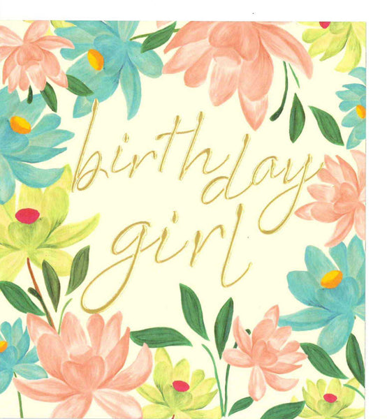 Buttercup Birthday Girl Card