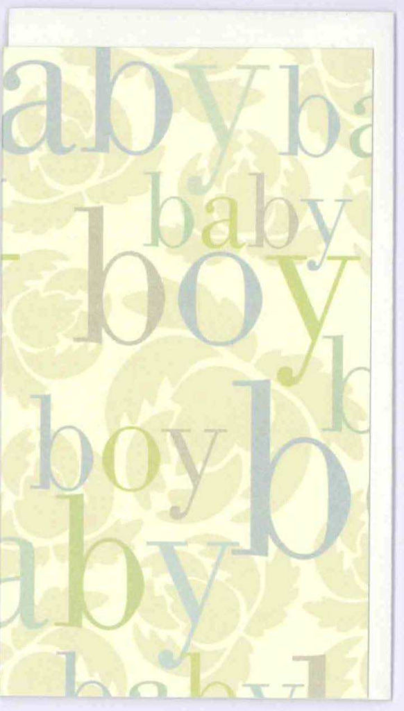 Baby Boy Mini Card