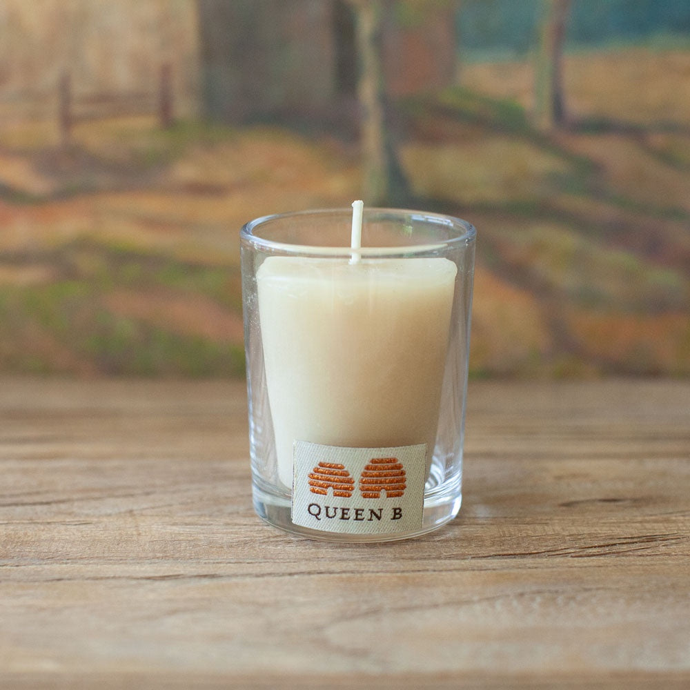 Beeswax Votive in Glass