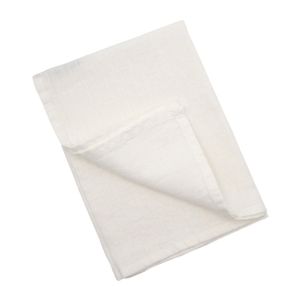Linen Tea Towel Milk White