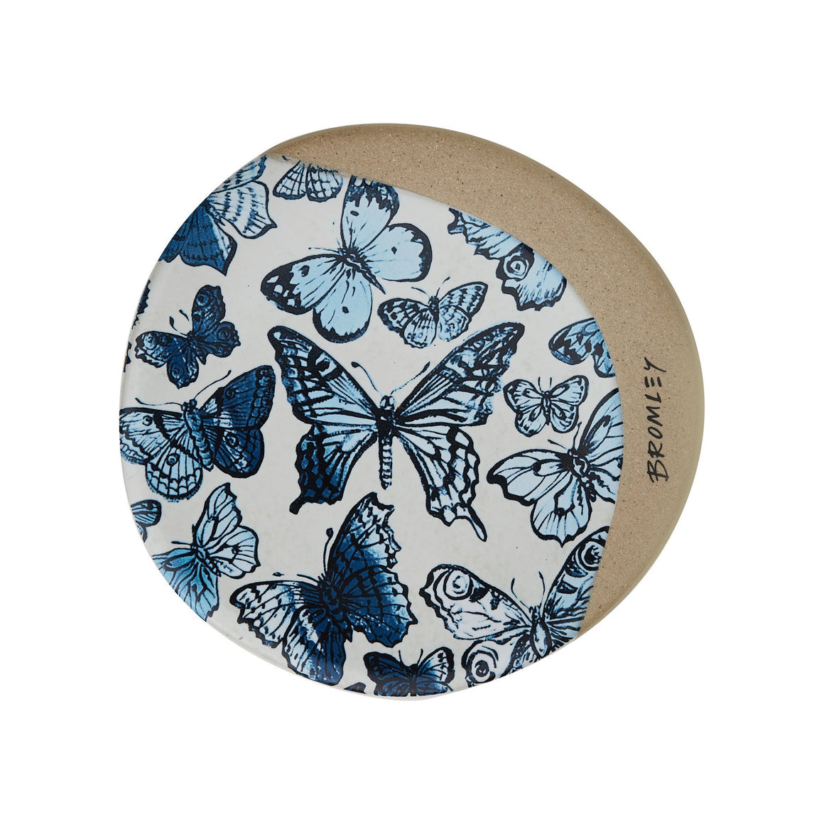 Bromley Butterfly Coaster Blue