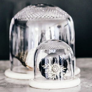 Crystal Dome and White Marble Base