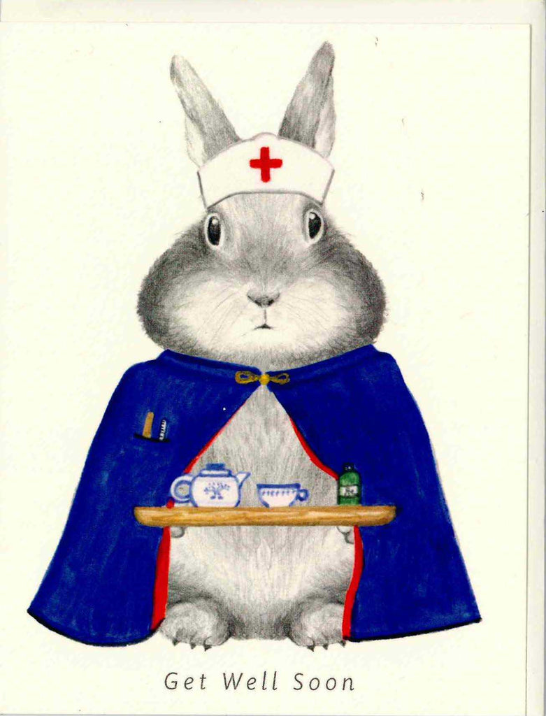 Bunny Get Well Soon Card