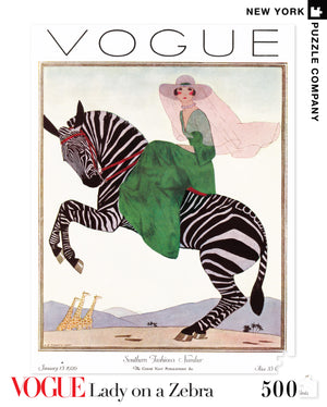 Vogue Lady on Zebra 500pc Puzzle