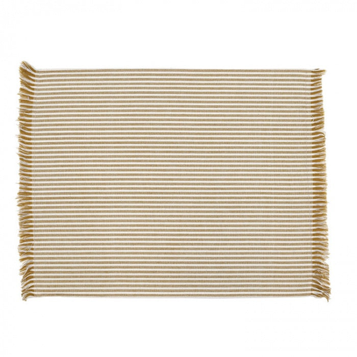 Abby Stripe Placemat Mustard Set 4